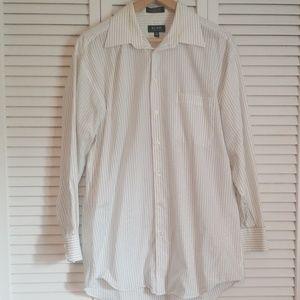 Pin Stripe Long Sleeve Collared Shirt